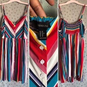 Multi-color Spaghetti Strap Dress